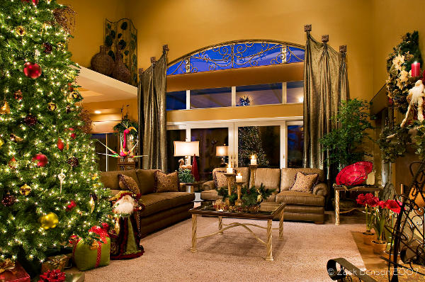 Ideias para a decora o de natal for Christmas living room pinterest