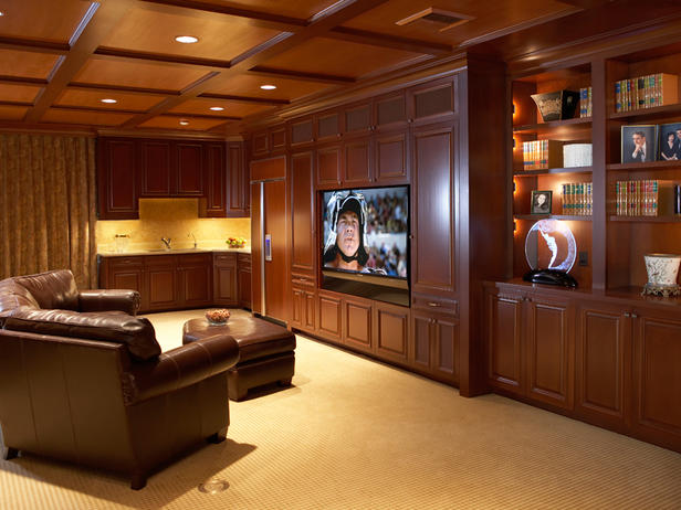 Decora o de salas home theater - Sala home theatre ...